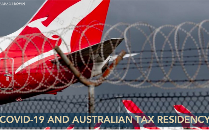 Australian Tax Residency & Covid-19 - Jarrad Brown - Australian Expat Financial Planner