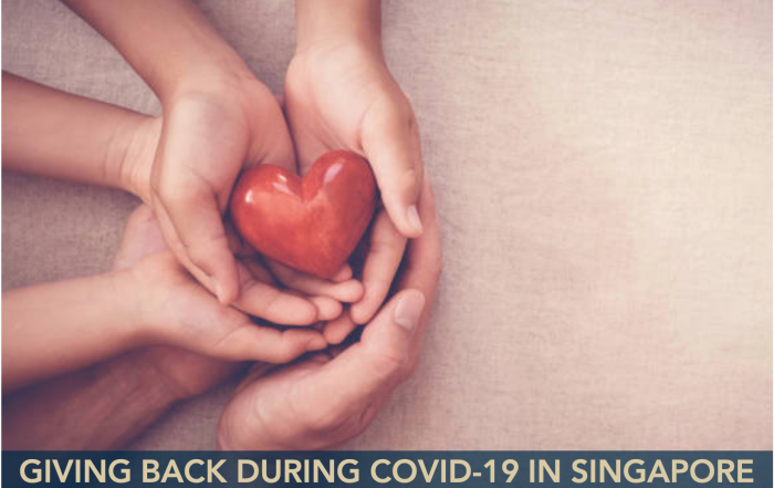 Giving Back During Covid-19 in SIngapore - JARRAD BROWN - Australian Expat Financial Planner