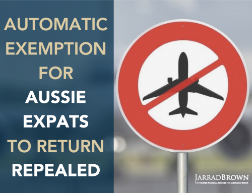 Automatic Exemption for Australian Expat Travel REPEALED